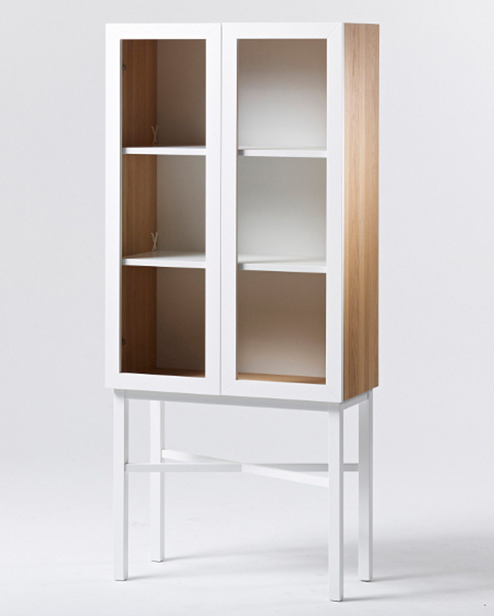 lys vintage a2 display cabinet white shop. Black Bedroom Furniture Sets. Home Design Ideas